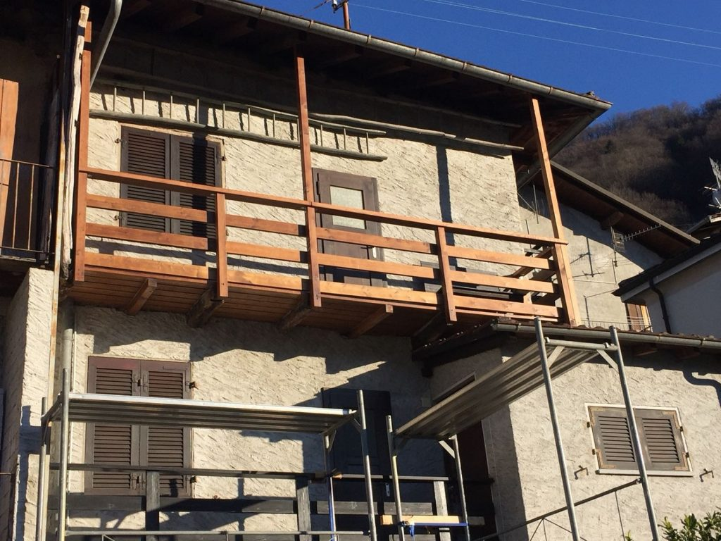 2 - Risanamento balcone a Caviano | RISI Carpenteria SA - Ticino - Svizzera
