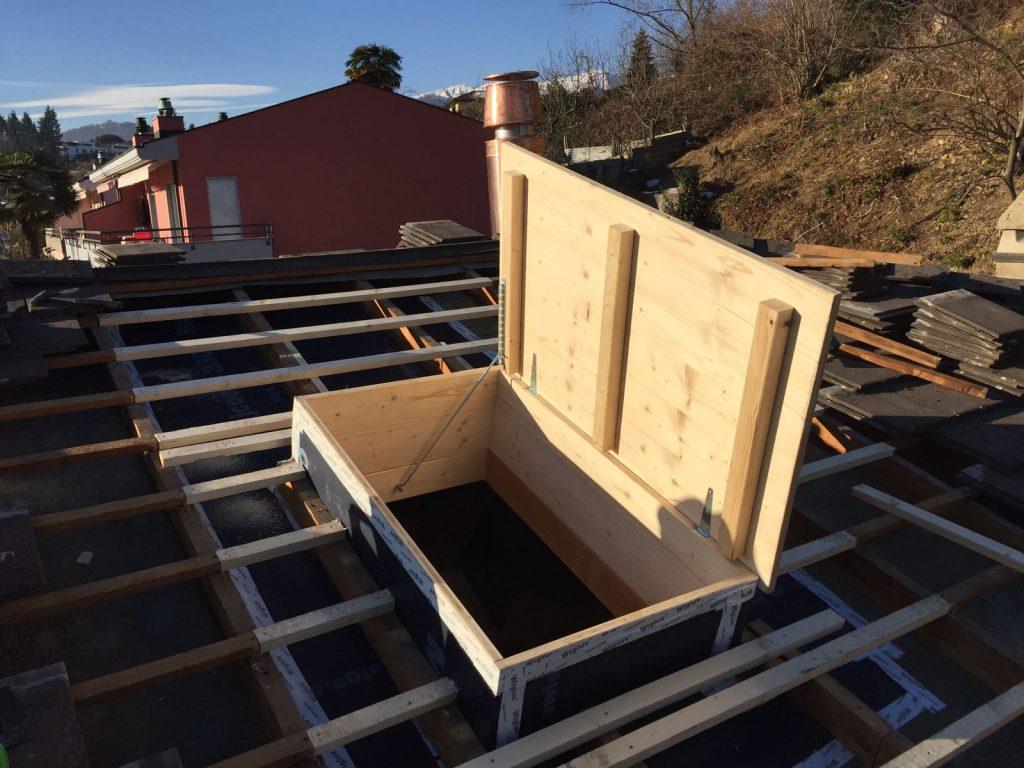 3 - Inserimento botole su misura nel tetto | RISI Carpenteria SA - Canton Ticino
