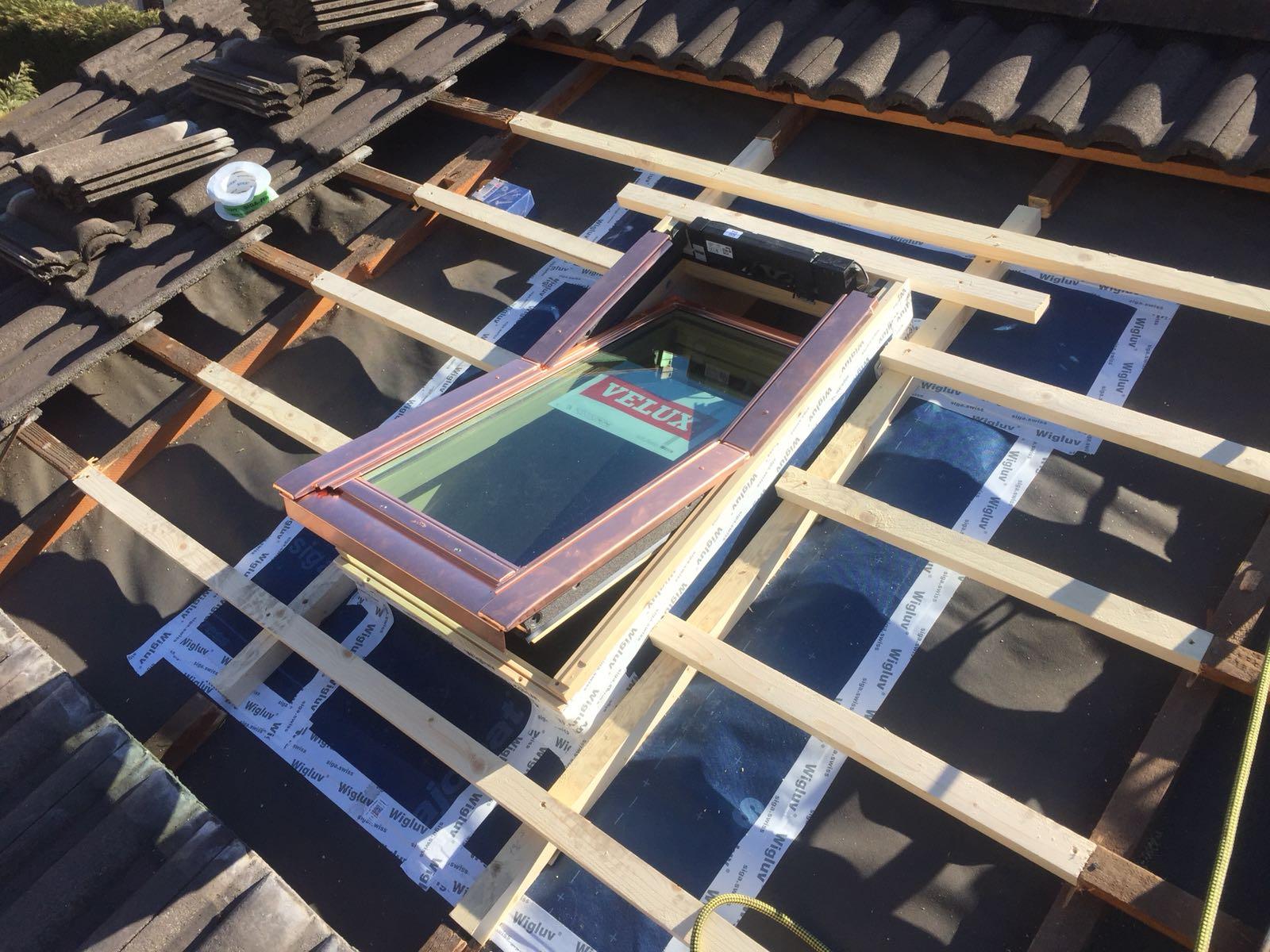 Inserimento finestre panoramiche nel tetto esistente - Finestre panoramiche ...
