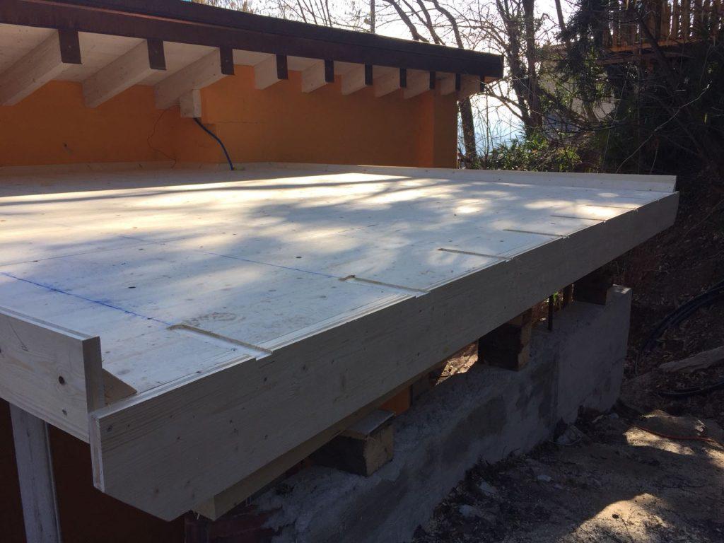 formazione tetto piano-terrazza pedonabile