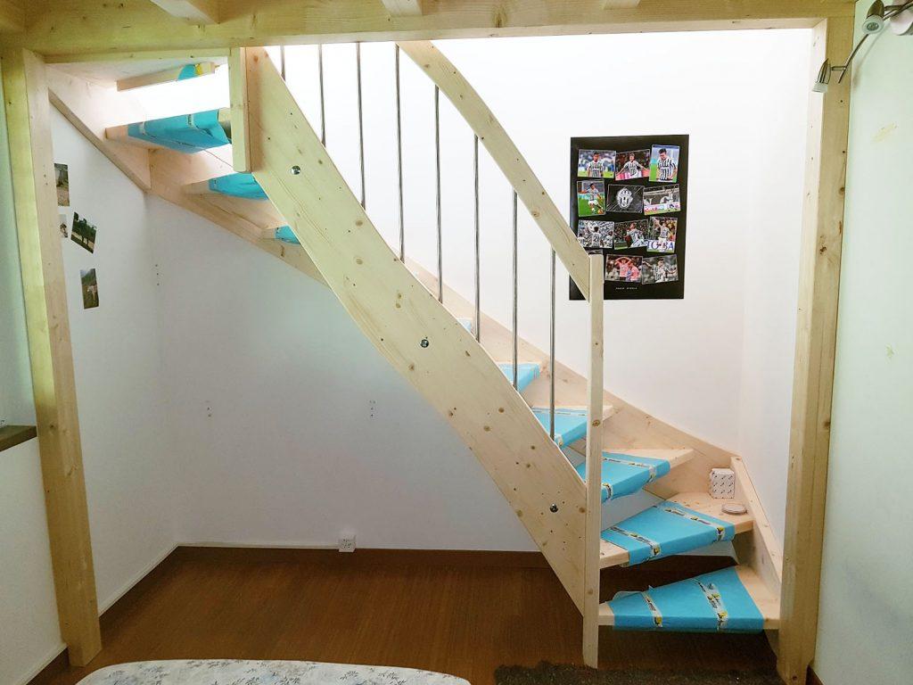 progettazione e installazione scale in legno