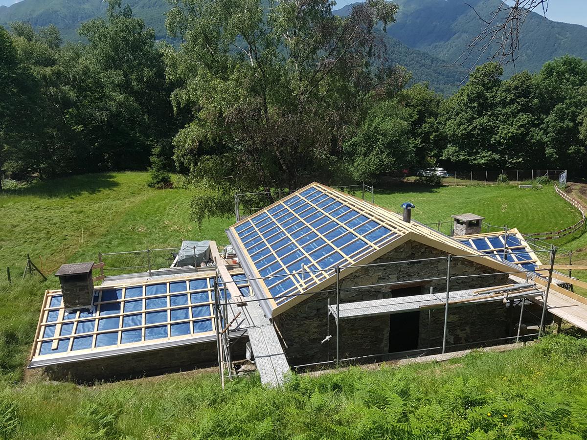 Ristrutturazione copertura tetto | Risi Carpenteria Canton Ticino
