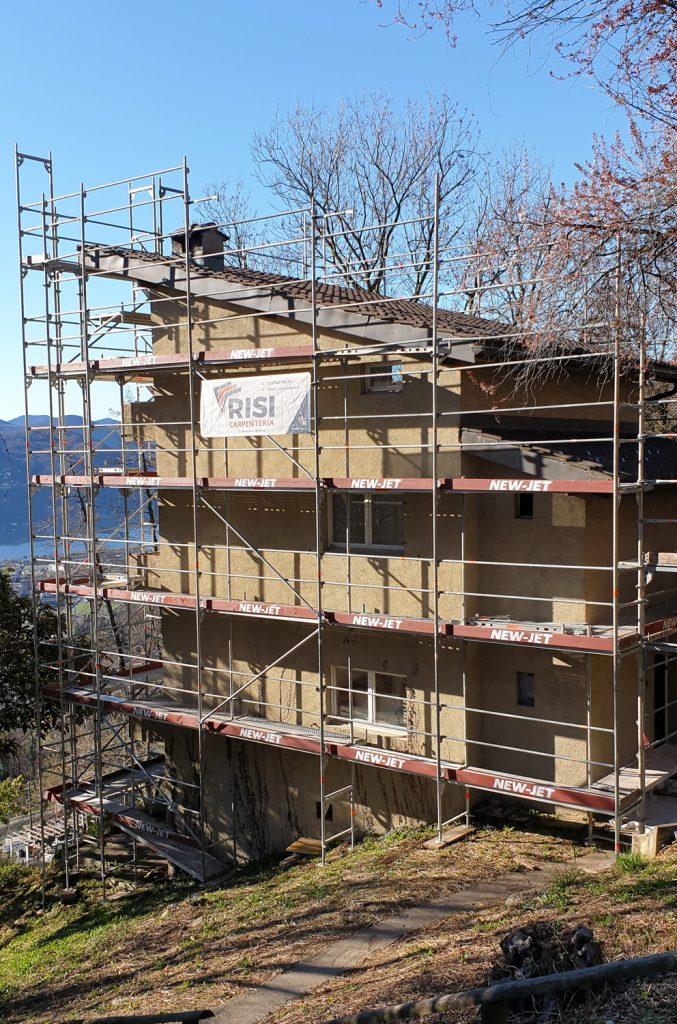 prima Rifacimento tetto di uno stabile a Cademario